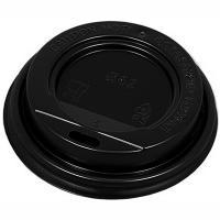 Крышка для стакана D62 мм с открытым питейником PS ЧЕРНАЯ 1/100/1000