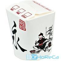 Контейнер бумажный CHINA PACK   450мл Н100хD83 мм с декором КИТАЙ   1/50/500