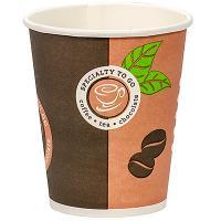 Стакан бумажный 200мл D80 мм 1-сл для горячих напитков COFFE-TO-GO HUHTAMAKI 1/50/1000