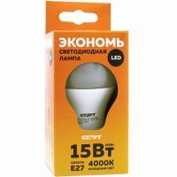 Лампа светодиодная E27 холодный свет 15W 220V ECO груша СТАРТ 1/10
