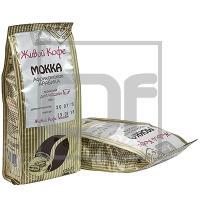 Кофе молотый   200г MOKKA (Африканская арабика) мягкая упаковка   ''ЖИВОЙ КОФЕ''   1/1