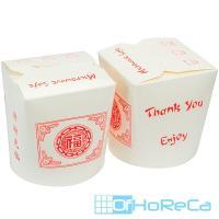 Контейнер бумажный CHINA PACK 500мл Н88хD87 мм с декором ОРНАМЕНТ 1/50/500