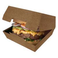 Упаковка для гамбургера ДхШхВ 115х115х60 мм КРАФТ темный GDC 1/50/150