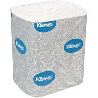 Бумага туалетная листовая 2-сл 200 лист/уп ДхШ 186х110 мм KLEENEX с голубым тиснением БЕЛАЯ KIMBERLY-CLARK 1/36