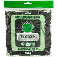 Салфетка микроволоконная (микрофибра) ДхШ 400х400 мм 1 шт/уп ЦВЕТ В АССОРТИМЕНТЕ TEXTOP 1/100