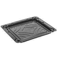 Упаковка для суши ДхШхВ 190х160х10 мм без крышки прямоугольная ЧЕРНАЯ П 1/225