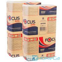 Полотенце бумажное листовое   215х240 мм 1-сл 200 шт/уп Z-сложения FOCUS EXTRA с тиснением БЕЛОЕ   ''HAYAT''   1/12