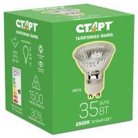 Лампа галогенная GU10 теплый свет 35W 220V СТАРТ 1/10