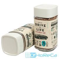 Кофе растворимый с молотым   100г DRIVE FOR LIFE STRONG в стекле   ''ЖИВОЙ КОФЕ''   1/1