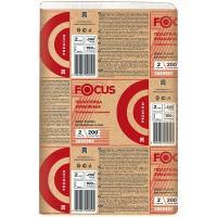 Полотенце бумажное листовое 2-сл 200 лист/уп 225х240 мм Z-сложения быстрорастворимое FOCUS EXTRA БЕЛОЕ HAYAT 1/20