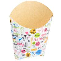 Упаковка для картофеля фри ДхШхВ 126х50х135 мм с дизайном ENJOY КАРТОННАЯ GDC 1/50/1000
