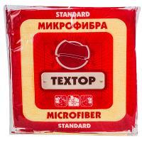 Салфетка микроволоконная (микрофибра) ДхШ 290х290 мм 1 шт/уп STANDART ЦВЕТ В АССОРТИМЕНТЕ TEXTOP 1/100