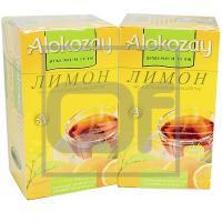 Чай черный пакетированный   25 шт в индивидуальной упак ЛИМОН   ''ALOKOZAY''   1/24