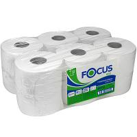 Бумага туалетная 1-сл 200 м в рулоне*12 Н95хD180 мм FOCUS JUMBO ECO БЕЛАЯ HAYAT 1/1