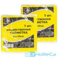 Салфетка универсальная вискозная   ДхШ 300х300 мм 3 шт/уп   1/100