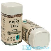 Кофе растворимый   100г DRIVE FOR LIFE STRONG в стекле   ''ЖИВОЙ КОФЕ''   1/1