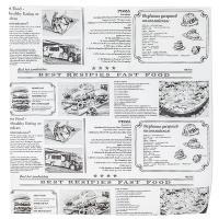 Бумага оберточная ДхШ 300х300 мм жиростойкая с печатью NEWSPAPER для гамбургера 1/1000/6000