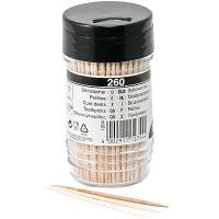 Зубочистки Н65 мм 260 шт/уп без индивидуальной упаковки в пластиковом стаканчике PAPSTAR 1/12