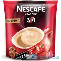 Кофе растворимый порционный   16г 20 шт/уп NESCAFE КЛАССИК 3 в 1   ''NESTLE''   1/1